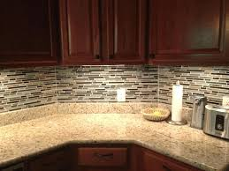 horizontal tile backsplash stick glass mosaic classic kitchen
