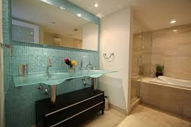 accent tile wall in bathroom modern bathroom miami by
