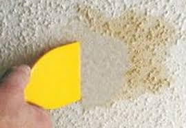 Scraping Popcorn Ceiling Off by How To Repair A Water Stain On A Popcorn Ceiling