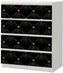 slk shop aufkleber für ikea malm kommode 80x100cm black