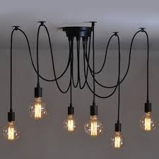 Plug In Swag Lamps Ikea by 6 Heads Vintage Industrial Edison Ceiling Lamp Chandelier Pendant