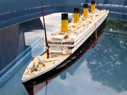 titanic model sinking youtube