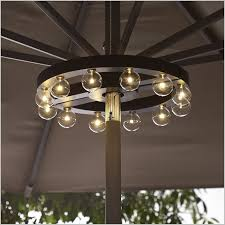 Outdoor Umbrellas with Lights Enhance First Impression