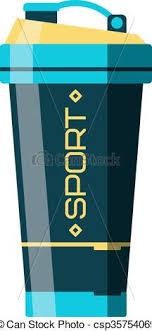 Shaker Sport Drink Bottle Fitness Illustration