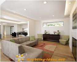 family room with recessed lighting fixtures ceiling lights