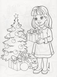 Adult Coloring Pages Colouring Books Christmas Patterns Jul Colour Book Markers Trees