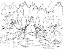 A Free Coloring Page Of An Alligator Riding Bluebison Across Bridge In Front