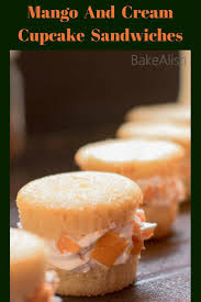These Mango Cream Cupcake Sandwiches Are Different From Regular Cupcakes Filled With Fresh And Whipping Moist Taste