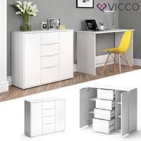 vicco sideboard kommode schrank weiß fernsehschrank tv anrichte highboard