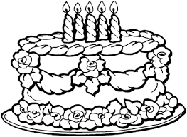 Click To See Printable Version Of Big Birthday Cake Coloring Page