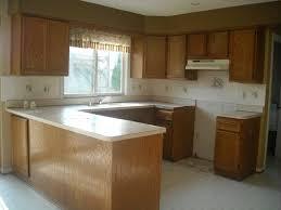 Kitchen Backsplash Pictures With Oak Cabinets by White Subway Tile Backsplash African Mahogany Wood Cabinets Light