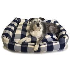 buffalo check lounge dog bed