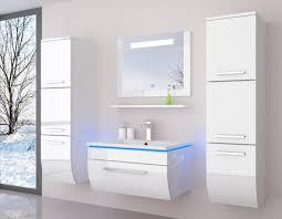 90 weiß hochglanz 90 cm badmöbel set bad möbel komplett set incl led system fertig montiert lackiert 6 teilig badezimmer hochschrank badezimmerschrank