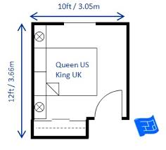 10x10 Bedroom Layout by 12 X 10ft Small Bedroom Design For A Queen Size Bed King In Uk