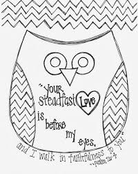 Free Valentines Day Bible Verse Owl Coloring Page