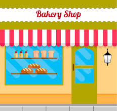 Download Bakery building front stock vector Illustration of boutique