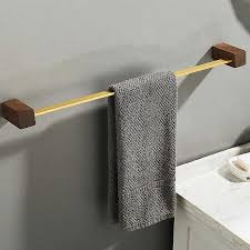 schwarz nussbaum holz handtuch papier halter kleiderbügel badezimmer organizer wand hängen handtuch ring bathtoom zubehör