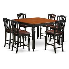 East West Furniture 9 PC Height Set-Square Pub Table And 8 ...