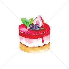 strawberry cheesecake vector graphic