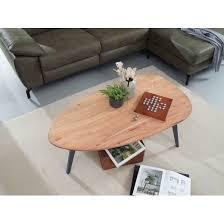 couchtisch akazie massivholz 110 x 45 x 60 cm wohnzimmertisch nierenform sofatisch modern holztisch tisch wohnzimmer holz metall