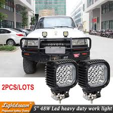 2pcs 12V 24V 5 Inch 48W Work Tuning Lights For 4*4 Wrangler Truck ... 12v 18w 6led Waterproof Led Headlights Flood Work Light Motorcycle 4pcs 4inch Work Light Bar Driving Flood Beam Suv Atv Jeep New 4inch 57w Lights Offroad Led Bar Trucks Boat 4x4 4wd Atv Uaz Suv Driving 2pcs 18w Flood Beam Led Work Light 12v 24v Offroad Fog Lamp Trucks Truck Lite Spot With Ingrated Mount 81711 Trucklite 50 Inch 250w Spotflood Combo 21400 Lumens Cree Signalstat Stud Mount Oval Lot Two Mini 27w 9 Worklights Fog For Tractor Xrll 27w Forklift Square Cube Pods Flush
