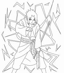 Naruto Sasuke Akatsuki Coloring Book Pages Coloring Pinterest