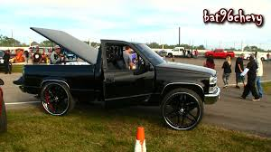 ALL BLACK 90's Chevy C1500 Truck On 30