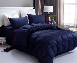Home accessory dark navy blue forter classy bedroom bedding