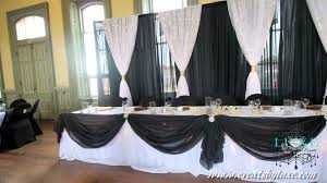 Old Hollywood Wedding Decor Black White And Gold
