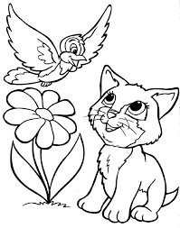 Fresh Puppy And Kitty Coloring Pages 76 About Remodel Books With