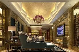 deco living room with interior wallpaper built in bookshelf
