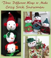 DIY Craft Tutorial Three Different Ways To Make Sock Snowmen