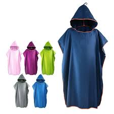 Microfiber Wetsuit Changing Robe Poncho With Hood Quick Dry Hooded Towels For Swim Beach