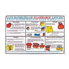 Flammable Liquid Storage Cabinet Requirements by Brady Part Ps131e 45856 Flammable Liquid Safety Poster