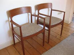 stühle armchair 60er design teakholz teak