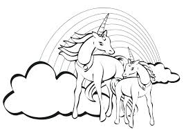 Unicorn Coloring Pages For Adults Color Free Uni On With Wings Page Printable