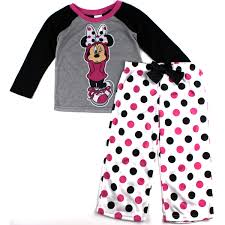 minnie mouse girls pajamas set