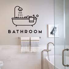 kreative badewanne badezimmer wand aufkleber mode opaque wand kunst vinyl aufkleber home design decor tür tapete klebstoff wandmalereien