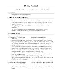 Medical Assistant Resume Examples Great Templates Template Ideas