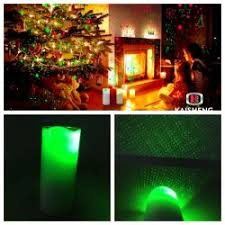 Candle Projector Green Laser Christmas LED
