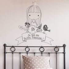 tickers chambre fille princesse stickers decoratifs chambre enfant stickers citation enfant