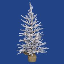 75 Flocked Christmas Tree by Artificial Christmas Trees Prelit Table Top Artificial Christmas