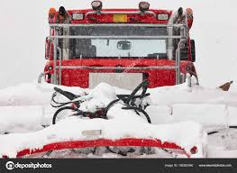 100 Truck Snowblower Snow Blower Truck Covered By Snow Winter Time Snowing Stock