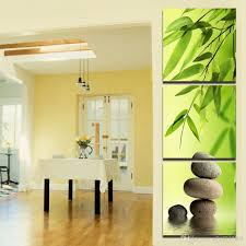 100 Bamboo Walls 2019 HD Printed Modern Painting On Canvas 3 Panel Stone