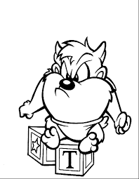 Coloring Page Baby Looney Tunes Cartoons 146