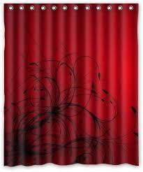custom duschvorhang rot schwarz wasserdicht stoff abstrakt badezimmer dusche vorhang 152 4 x 182 9 cm