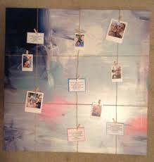 Kmart Curtains And Rods by Diy Photo Board Kmart Canvas With Paint Kmart Polaroid Frames