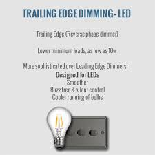 trailing edge dimming for led bulbs