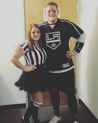 Purge Halloween Mask Couple by Referee And Hockey Player Halloween Costume Halloween Sports