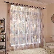 Schlafzimmer Vorhã Nge Bloomma 2 Stück Vorh Nge Blumenbaum Transparent Voile Vorhang Aus Viskose Und Polyester Für Fenster Balkontür Wohnzimmer Schlafzimmer 100 Cm X 250 Cm